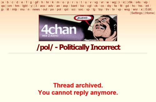 開発のあいまに: 4chanでYou cannot reply anymoreが表示されて困る